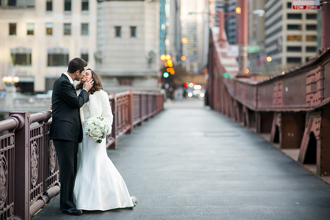 Downtown Chicago Wedding Couple