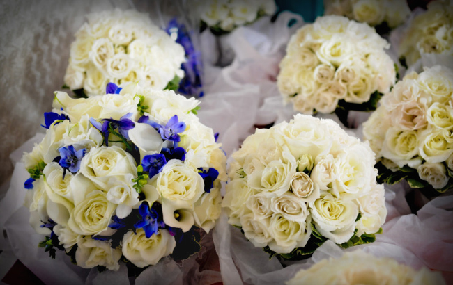 Blue & White Bouquets