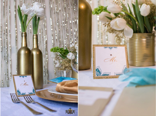 White, Blue and Gold Reception