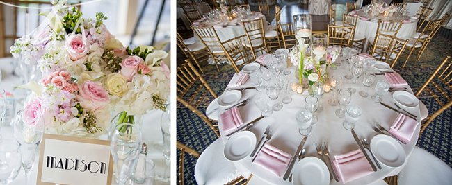Pink and White Reception