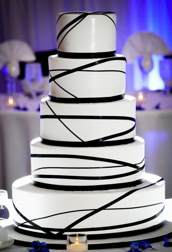 Black, White and Blue Wedding