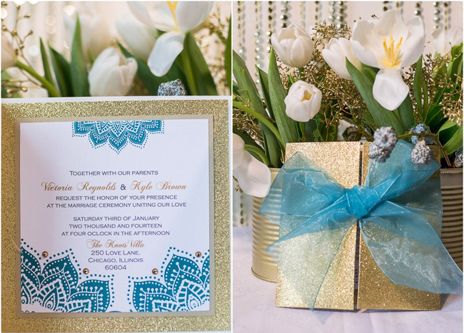 White and Blue Wedding Theme