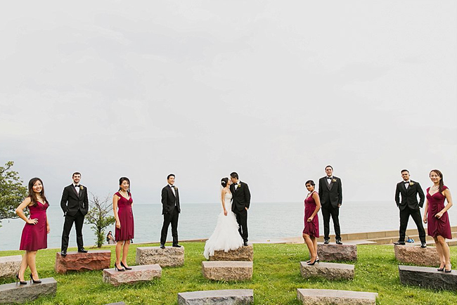 Lake Shore Wedding Party