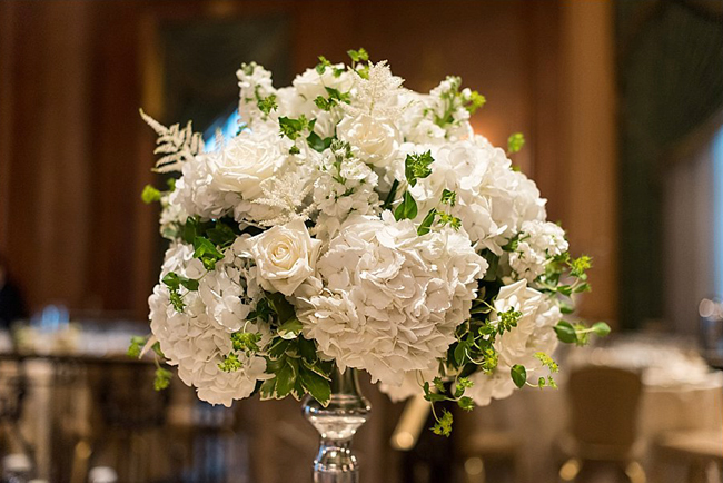 White Reception Centerpiece