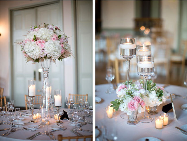 Candlelight Reception Centerpieces
